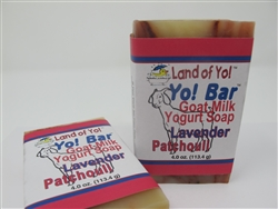 All-natural 4-oz soap bar made with goat milk yogurt.